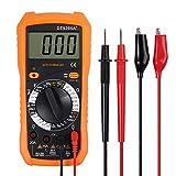 Neoteck Multimètre Numérique Mini Multimètre Testeur de Pile Courant Tension AC DC Buzzer Transistor NPN PNP Voltmètre Ampèremètre Ohmmètre pour Bricolage Lab Ecole Usine