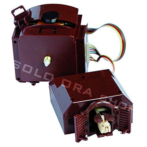 Cuckoo kit - Meccanismo orologio cu-cù al quarzo con pendolo con lancette plastica bianche