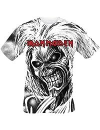 Iron Maiden Killers Allover Camiseta Blanco