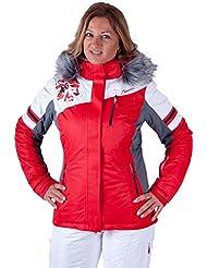 ALM de esquí para mujer chaqueta y pantalones de esquí 2. Piezas en blanco/rojo, invierno, mujer, color Weiss, tamaño 42