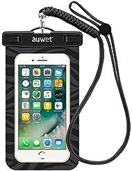 Wasserdichte Hülle, Auwet Wasserdichte tasche beutel handyhülle für iPhone 7/6s/plus/5/5s, Samsung Galaxy S6/ S5/S7, Note 4/3 für Bootfahren/ Schwimmen/Tauchen/Angeln (Blau)