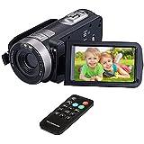 """Digital Video Camcorder, VPRAWLS 24.0 Mega Pixel 16X Zoom Portable Mini Hand Video Videorecorder mit IR Nachtsicht Full HD 1080P Max. DV 3 """"LCD-Bildschirm (zwei Batterien enthalten)"""