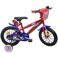 """EDEN-BIKES Spider Man Bicicletta Bambino Ragazzo, Multicolore, 14"""""""
