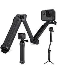 ★MOST SOLD ★ GoPro 3 Way - AFAEM-001 - Handheld Selfie Stick Monopod Foldable Mount Holder for GoPro Hero Cameras Gopro Hero 1 2 3 3+ 4 5 & SJ4000 SJ5000 Action Cameras SJ fullhd e 4k