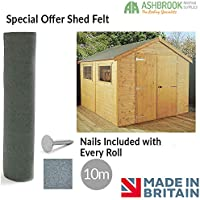 Ashbrook Roofing Shed Roofing Felt | Green Mineral | 10m x 1m | Special Offer