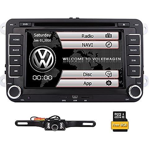 EinCar Doble 2 DIN 7 pulgadas est¨¦reo Tama?o del coche DVD GPS de navegaci¨®n de radio de VW Passat t5 Golf MK5 Jetta + c¨¢mara