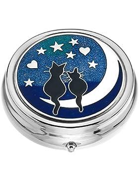 Sea Gems 7944 Tablettendose, Motiv Katzen auf dem Mond (groß), hergestellt in Schottland