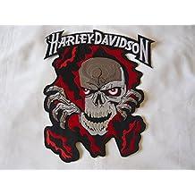 –Parche para planchar Harley Davidson aprox. 10x 8cm moto motocicleta Club