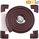Vic Kid® Edge & Corner Guard for Baby Proofing | Child Safety Furniture Bumper | Table Protectors | Safe Edge & Corner Cushion (Extra Thick, 6.5 Ft Edge + 4 Corners)