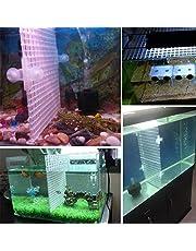 coralreef aqua White Plastic Aquarium Grid Divider Isolate Board for Breeding Tank