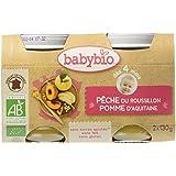 Babybio Pots Pêche/Pomme d'Aquitaine 260 g - Lot de 6