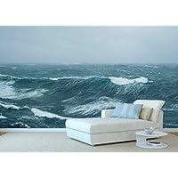 Fotomural Vinilo Pared Marea Mar 200x150cm   Ideal para la decoración de comedores, salones, habitaciones   Mural Económico y Original