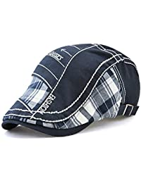 Tioamy Boinas para Hombre Sombreros Gorras Boinas Gorra de Béisbol Ocio  Retro Clásico del Algodón Gorra af177ad4091
