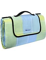 Songmics 195 x 150 cm Manta de picnic Alfombra para Camping Playa Jardín Impermeable Plegable GCM50L