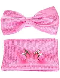 Topwedding bouton de manchette noeud papillon et mouchoir en soie(trois-pieces)