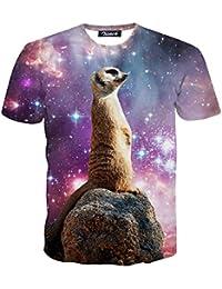 Zicac T-shirt d'été à manches courtes pour homme Col rond Motif animal imprimé en 3D