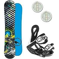 Unbekannt Trans Premium Kinder Snowboard Set ~ 120 cm + ELFGEN JUNIOR Bindung + PAD