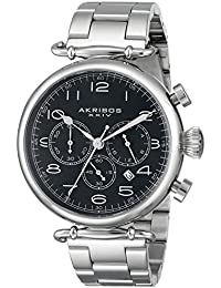Akribos XXIV Reloj con movimiento cuarzo japonés Man AK764SSB 46 mm