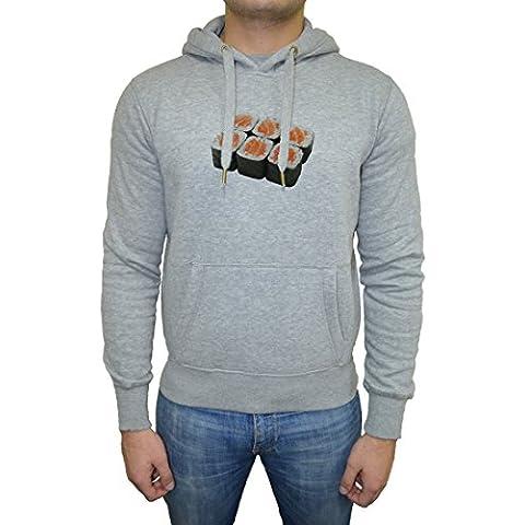 Sushi Hombre Sudadera Sudadera Con Capucha Pullover Gris Todos Los Tamaños | Men's Sweatshirt Hoodie Pullover