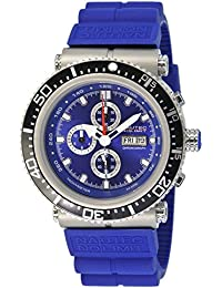 Nautec No Limit Herren-Armbanduhr XL Deep Sea Professional Chronograph Quarz Kautschuk DS-P QZ2/RBSTSTBL