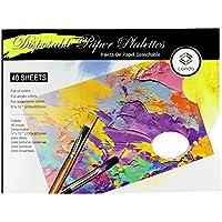 Palette papier Conda 30,5x 22,9cm jetables Palette Pad Coussinets de l'artiste avec 40feuilles pour huile Acrylique aquarelle