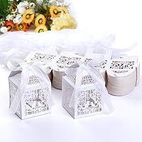 Set de 100 cajitas de boda dulces regalos?? bombones y detalles Color Marfil #XTH30
