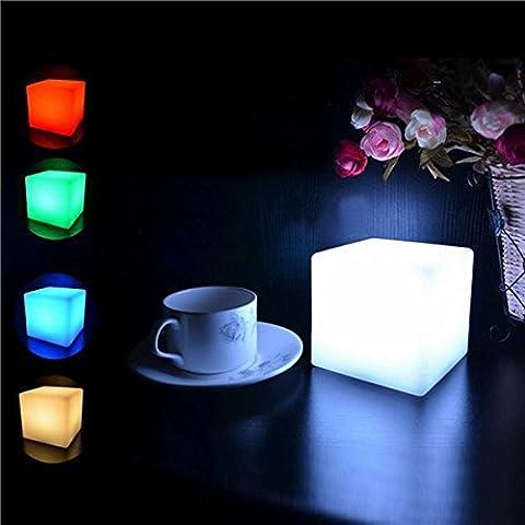 Bazaar Resplandor de la noche la luz de la lámpara para la decoración del partido del hogar Cube romántico LED estado de ánimo colorido