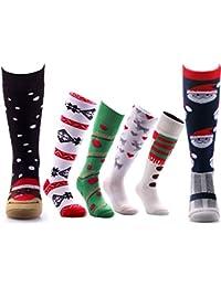 3 Mens Ladies Super Soft Xmas Ski / Wellie Boot Socks UK 6-11 , 3-6 Size Free Post