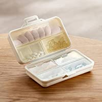 Preisvergleich für AYADA Pillendose 7 Tage Pillenbox TablettendoseTablettenbox Wochendosierer (Weiß,groß)