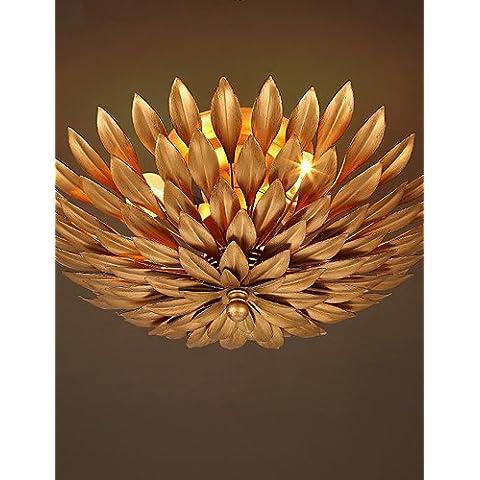 Illuminazione jiaily Europa retrò fiori di luce da soffitto in ferro battuto lampada da soffitto soggiorno , 220-240V