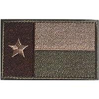 Parche táctico militar de cinta con diseño de la bandera de Texas