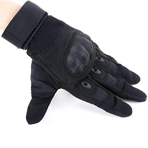 Unigear Taktische Handschuhe mit Klettverschluss Motorrad Handschuhe Army Gloves Sporthandschuhe geeignet für Motorräder Skifahren, Militär, Airsoft (Schwarz-Voll, XL) - 7