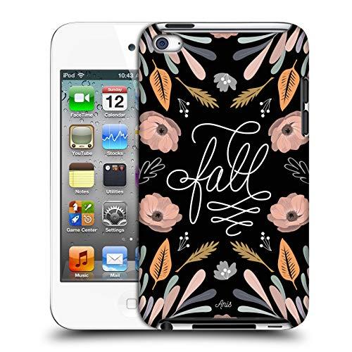 Head Case Designs Offizielle Anis Illustration Fall Typografie Harte Rueckseiten Huelle kompatibel mit Apple iPod Touch 4G 4th Gen (Ipod-touch-fall 8gb)