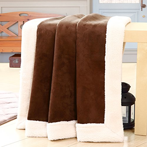 BDUK Die Lämmer Baumwolle Decke und Klimaanlage und Double-Glazed dicke Decke Decken Mittagsschlaf Pause für Mittagessen und der Sommer ist Faule Leute 2M 1,5 Decken Ll Bean Schal
