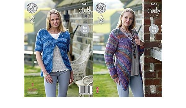 3cd6df52675a King Cole Ladies Cardigans Corona Knitting Pattern 4661 Chunky   Amazon.co.uk  Kitchen   Home