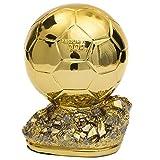 YWEHAPPY Mini Ballon d'Or Trophy 15cm Duplicato 2018 Francia Football Magazine Miglior Giocatore Resina Oro Palla Coppa Calcio Tifosi Souvenir Regali