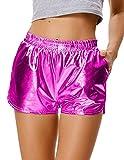 Kate Kasin Hot Pants Wet Look Festivals Glitter Shiny Shorts Disco Party für Damen (862-5) Small