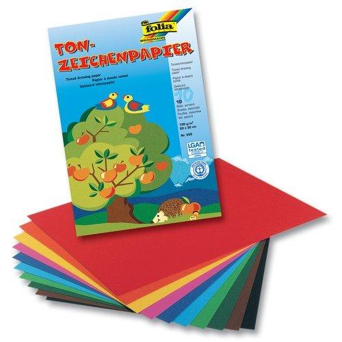 Tonpapier Mappe 10 Farben sort