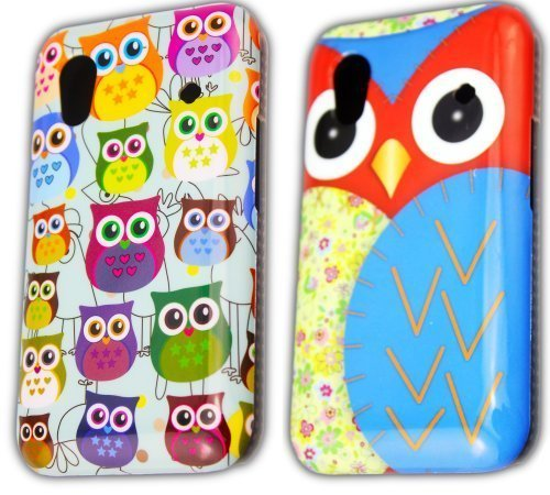 thematys Samsung Galaxy Ace S5830i S5839i 2 x Set Eule Owl Hard Case Schutz-Hülle Cover