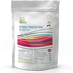 STRONG TRIBULUS 90% | 500 Tabletten a 2000 mg Tagesportion | Großpackung XL | Vegan | Hochdosiert | Saponingehalt 90% | Reines Tribulus Terrestris Extrakt, Natural Testosteron Booster - Premium Qualität zum Top Preis