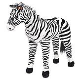 vidaXL Plüschtier Stehend Zebra XXL Plüschspielzeug Stofftier Kuscheltier