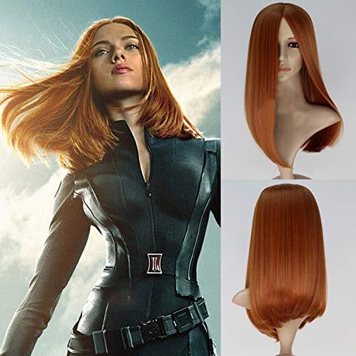 Peluca para disfraz de Capitán América con soldado de invierno para mujer,...