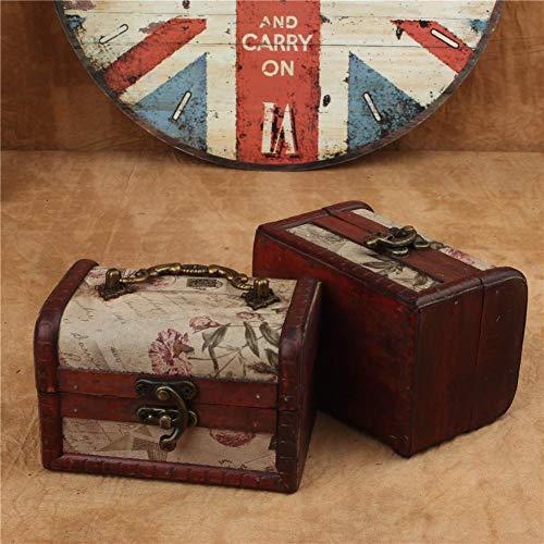 eginvic Reine Handgemachte Holz Aufbewahrungsbox Retro Europäischen Stil Holz Aufbewahrungsbox Kreative Pralinenschachtel Verpackung Handwerk Kleine Schmuckschatulle justifiable