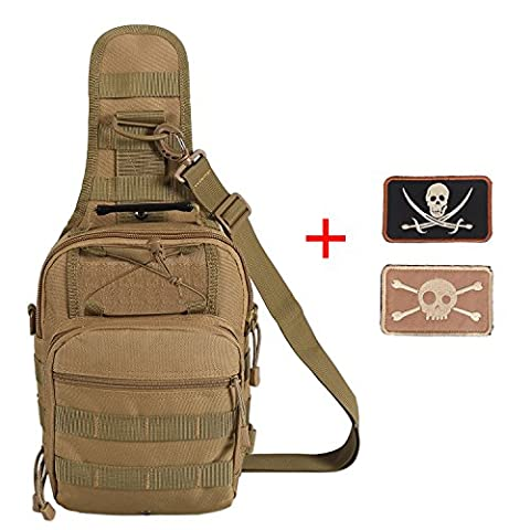 Lalawow Tactical Bag EDC Tactical Sling Pack Outdoor Tactical Backpack