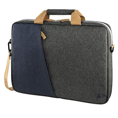 Hama 00185616 Notebooktasche 14,1 Zoll, Blau/Braun/Dunkelgrau