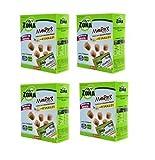 ENERZONA - MINIROCK 40-30-30 CON VANIGLIA - 4 CONFEZIONI DA 5 MINIPACK DA 24 g. Snack di soia e cioccolato bianco con vaniglia, ricco in proteine e fibre. Senza glutine. 1 minipack = 1 blocco immagine