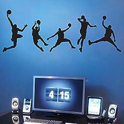 LOVE(TM) decorativos personalizados amo de la pared del dormitorio de la sala de estar niño jugar pegatinas de baloncesto PEGATINA decorativa de deportes