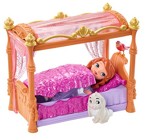 Mattel Disney's Sofia die Erste Y6648 - Sofia und königliches Bett, Puppe und Zubehör (Prinzessin Disney Erste Puppen)