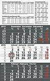 Baier & Schneider Monats-Wandkalender Dreimonatskalender, 3 Blöcke, 300 x 490 mm, grau