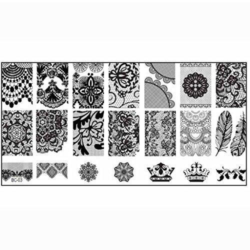 Internet 1PCS Nail Image de Timbre Stamping Plate Imprimer Nail Art Modèle Bricolage
